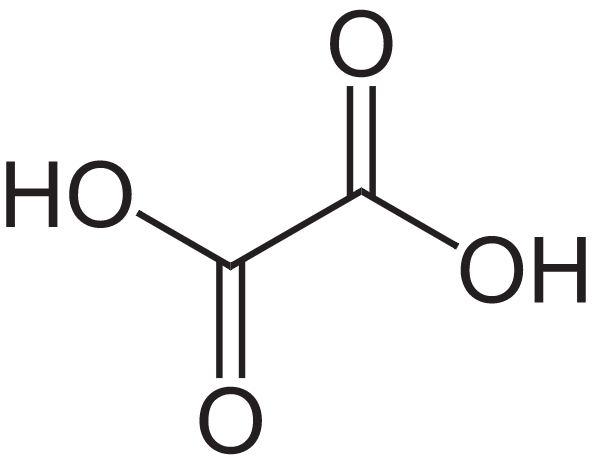 Структурна формула щавлевої кислоти