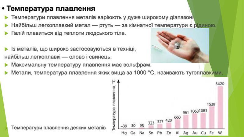 Температура плавлення металів