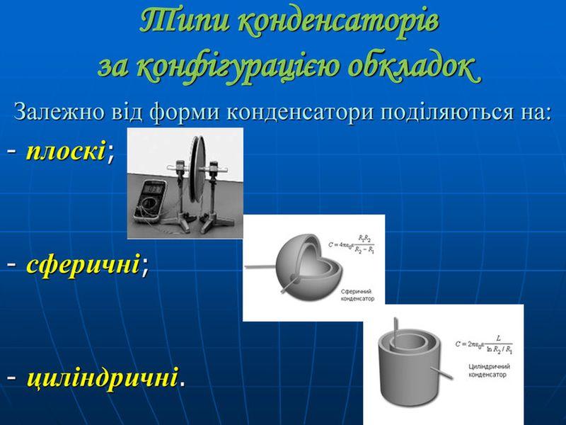 Типи конденсаторів