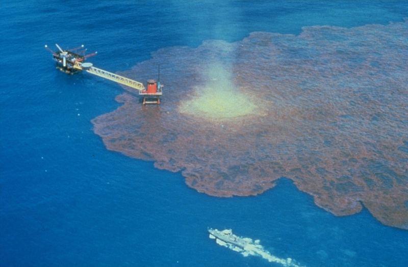 Витік нафти, внаслідок аварії на нафтовій свердловині