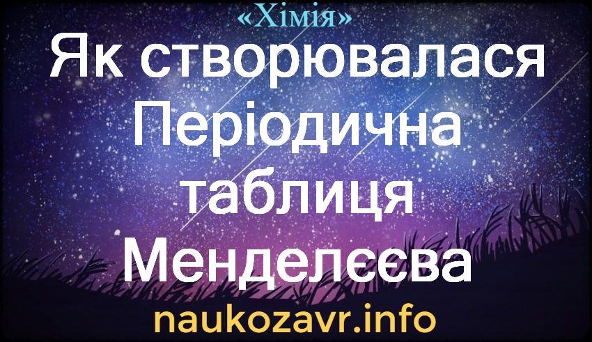 Як створювалася Періодична таблиця Менделєєва