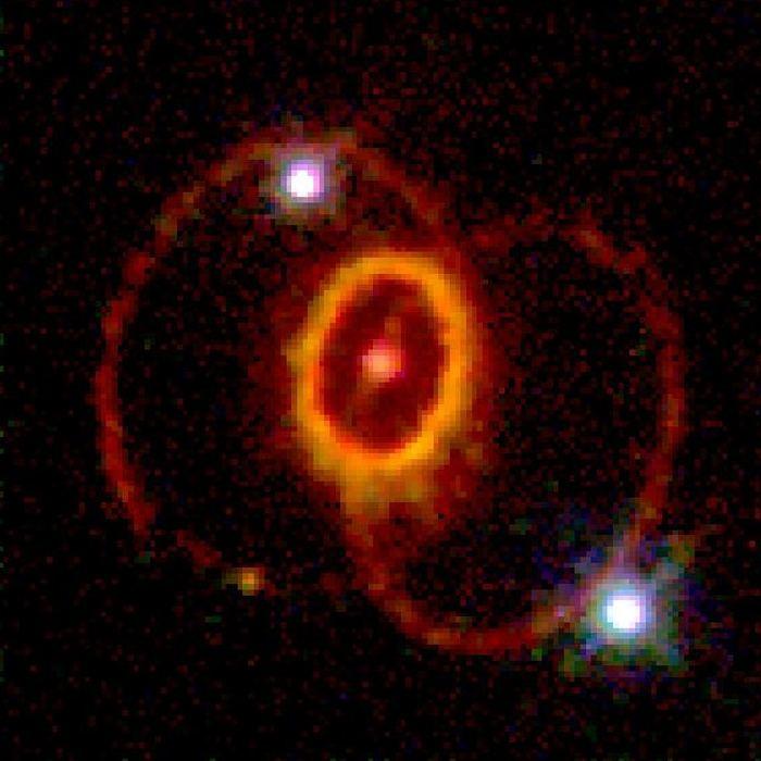Залишок наднової SN 1987A, знімок телескопа Габбл, опублікований 19 травня 1994 року