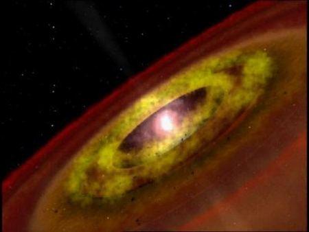 Зірка типу T Тільця з навколозоряним диском