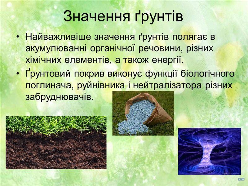Значення ґрунтів
