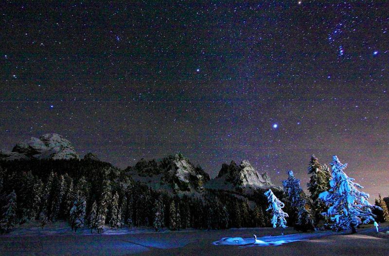 Зоряне небо в Альпах