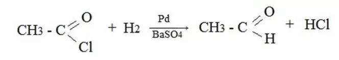 відновлення воднем хлорангідриду оцтової кислоти на паладієвому каталізаторі